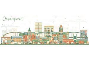 Davenport Iowa Skyline