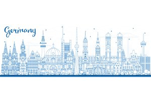 Outline Germany City Skyline