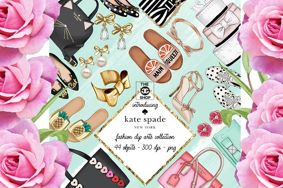 Kate Spade Fashion Set 44 Objects