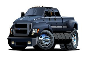 Cartoon vector pickup