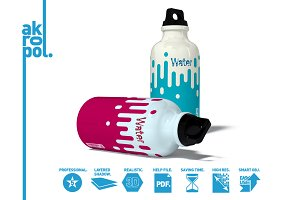 Water Bottle Mock-up