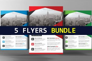 5 Corporate Business Flyer Bundle
