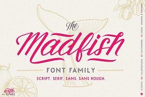 Madfish Font Family ++ EXTRAS
