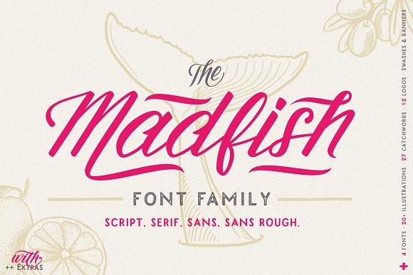 Madfish Font Family EXTRAS