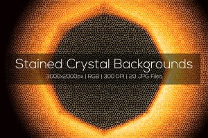 Stained Crystal Backgrounds