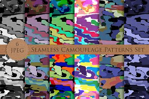CAMOUFLAGE seamless patterns set
