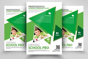 Driving School Print Flyers Template