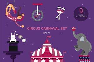 Circus carnival set