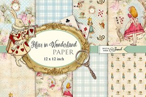 Alice in Wonderland Paper