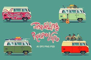 Traveling vans set