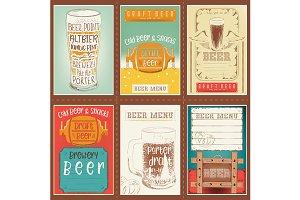 Beer Posters Set