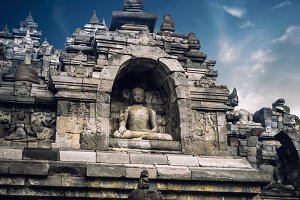 Ancient Borobudur Temple. Indonesia