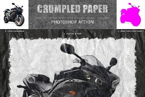 Crumpled Paper Art Photoshop Action