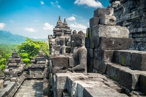 Amazing ancient Borobudur Temple
