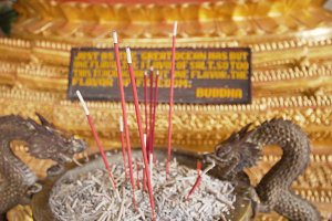 Incense sticks in a Buddhist temple