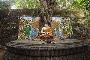Buda statue in the temple island of Bali