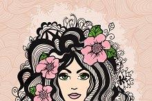 Beautiful girl vector illustration