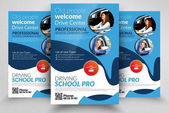 Driving School PrintFlyers Templates