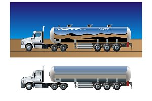 Vector tanker truck template