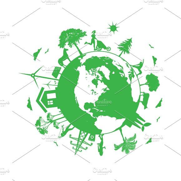 Renewable Energy Eco Planet Vector