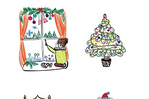 winter themes, vector illustration