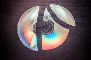broken CD, DVD