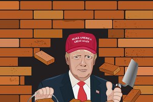 Donal Trump, wall, immigration
