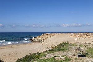 Wild beach in Tangier. Morocco