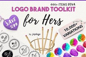 Diva Handdrawn Logo Creator + Extras