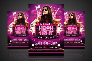 Neon Night - Flyer