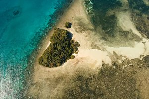 Aerial view beautiful tropical island. Philippines.