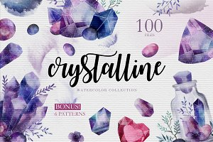 CRYSTALLINE. Watercolor collection