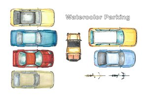 Watercolor parking