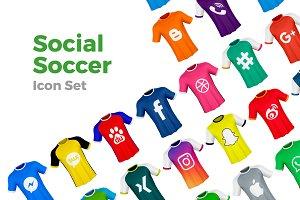Social Soccer Icons
