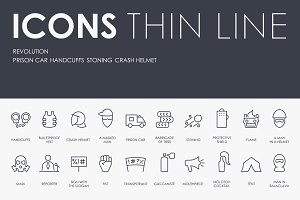 Revolution thinline icons