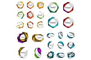 Logo mega collection - hexagons