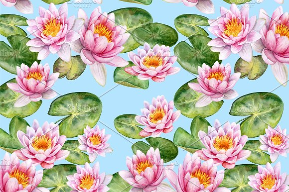 Koi carps. Water lilies in Patterns - product preview 8