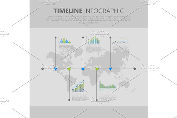 Timeline Infographic Vector With Graph And Diagram