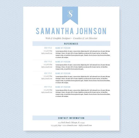 light blue resume template package resume templates creative market