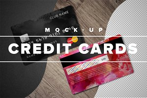 Credit Cards  mock-up