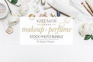 Makeup + Perfume Stock Photo Bundle