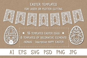 Easter templates for laser cutting