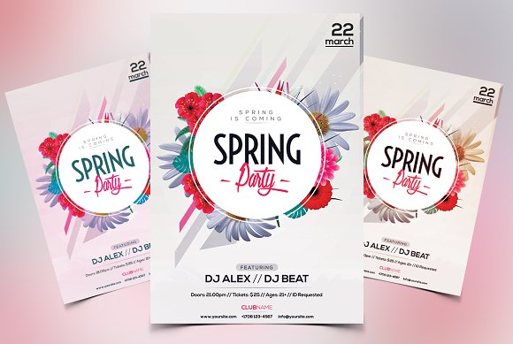 Spring Party Psd Event Flyer