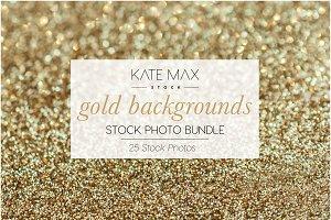 Gold Backgrounds Stock Photo Bundle