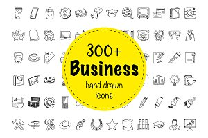 324 Business Doodle Icons