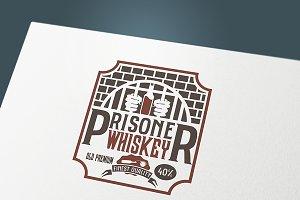 "Label whiskey ""Prisoner"""