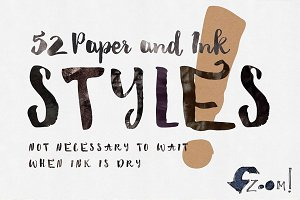 52 Paper&Ink Photoshop Styles