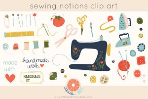 sewing notions clip art