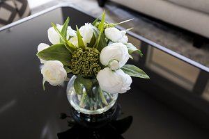 White Bouquet on coffee table