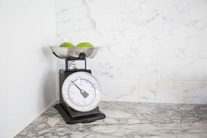 Limes on a Kitchen Scale